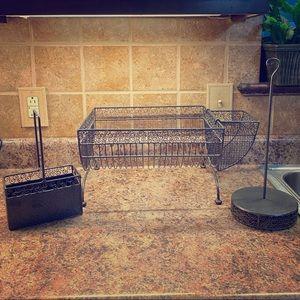 Kitchen Set: Drainer, Utencil Holder, Towel Holder